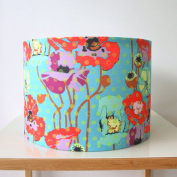 Fabric lampshade drum - designer fabric covered light shade, table lamp or floor lamp