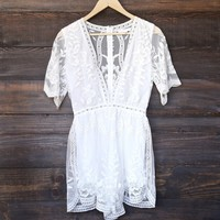 as you wish embroidered lace romper (women) - white
