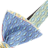 Mens Bow Ties: Bonefish Four Panel Silk Bow Tie - Vineyard Vines