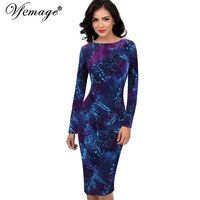 Vfemage Womens Velvet Winter Spring Elegant Vintage Pinup Retro Tunic Casual Party Pencil Sheath Bodycon Dress 4578