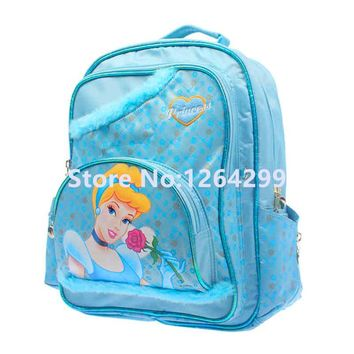 New Fashion Cinderella Princess Girls Nylon School Bags Kids Backpack Bag For Children