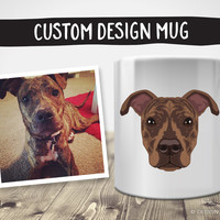 Custom Design Mug | Pet Illustration | Custom Pet Portrait | Pet Memorial | Dog Memorial | Dog Illustration | Custom Dog Portrait | Dog Mug