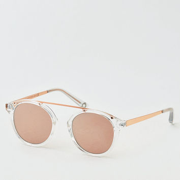 AEO Top Bar Bridgeless Sunglasses, Rose Gold