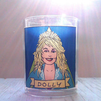 Dolly Parton Glass Votive Candle //  Gay Altar Candle