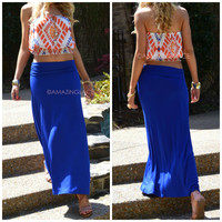 Summerland Royal Maxi Skirt
