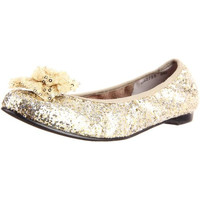 Ros Hommerson Womens Naughty Leather Glitter Ballet Flats