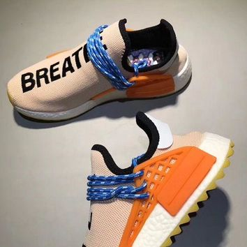 Adidas Human Race nmd Fashion Casual Embroider Letter Running Sports Shoes Orange