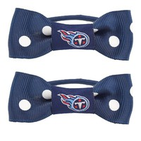 Tennessee Titans NFL Bow Pigtail Holder