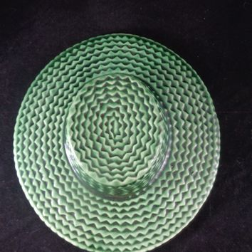 Green Weave Hat Wall Planter
