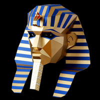 EGYPTIAN PHARAOH papercraft DIY mask