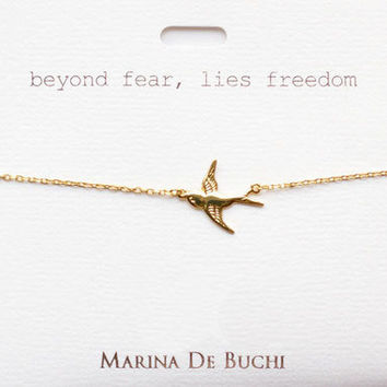 beyond fear, lies freedom | Bracelet