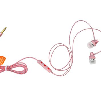 Wired Noise Cancelling Microphone Earphones Mutlifunction Stereo Sound Kids Headphones for Kids Children Teen Girls Apple Android Laptop PC Compatible Pink