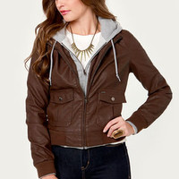 Obey Jealous Lover Brown Hooded Jacket