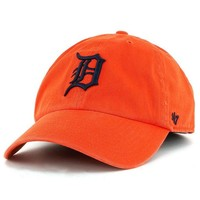 DCCKG8Q MLB Detroit Tigers Orange Clean Up Adjustable Hat