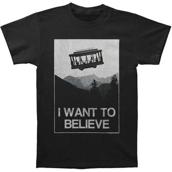 Mr. Roger's Neighborhood Men's  Believe T-shirt Black