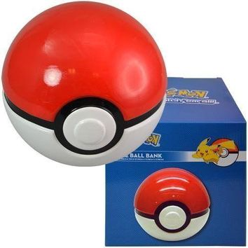"Party Favors Pokemon Go ""Pokeball"" Ceramic Bank in Color Box"