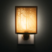Woodland Sunbeams Lithopane Nightlight