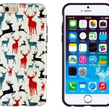 """iPhone 6 Case, DandyCase PERFECT PATTERN *No Chip/No Peel* Flexible Slim Case Cover for Apple iPhone 6 (4.7"""" screen) - LIFETIME WARRANTY [Colorful Deer]"""
