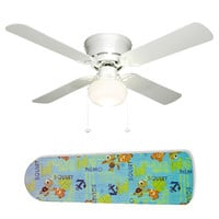 "Finding Nemo and Squirt 42"" Ceiling Fan and Lamp"