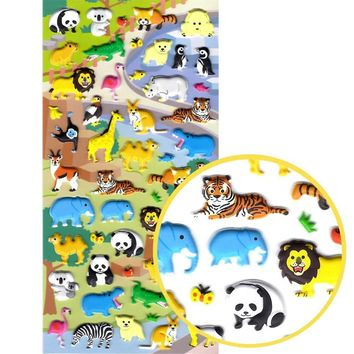 Zoo Animal Themed Elephant Lion Koala Zebra Crocodile Stickers for Scrapbooking