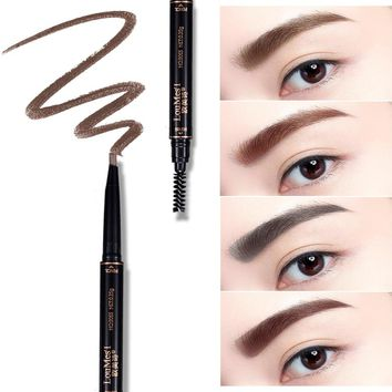 Loumesi eyebrow  Long-lasting Eyebrow Pencil Waterproof Longlasting Make up Black Brown Eyebrow Pencil Eye Brow Liner eyemakeup