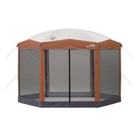 Instant 12-Ft x 10-Ft Hexagon Screened Canopy Gazebo with Removable Insect Screen