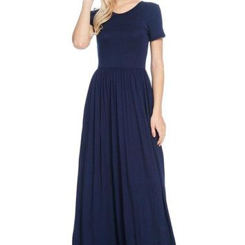 The Rommy Maxi Dress - Solid Black