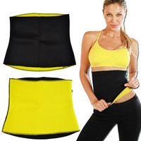 Waist Trainer Slimming Belt Hot Shaper Fitness Equipment for Weight Lose Girdle Corset Waist Training Tummy Trimmer Gym Yoga