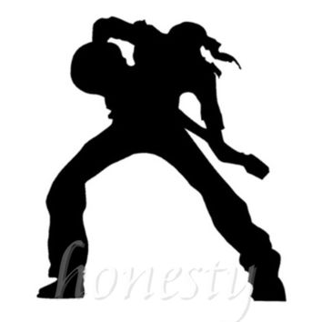 Bassist Bass Guitar Music Man Wall Home Window Glass Door Car Sticker Laptop Auto Truck Black Vinyl Decal Sticker Decor Gift