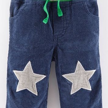 Infant Boy's Mini Boden 'Star Patch' Corduroy Pants,