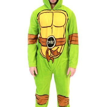 TMNT Teenage Mutant Ninja Turtles Adult One-Piece Union Suit with Masks
