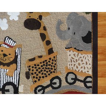 Lambs and Ivy Mutli-Color Kid's 5' x 8' Hand tufted Wool Area Rug