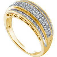 Diamond Fashion Ring in 10k Gold 0.39 ctw