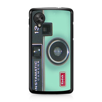 Camera Instamatic Kodak Mint Green Nexus 5 case