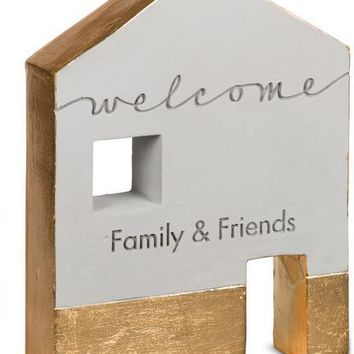 Welcome family & friends Self Standing Plaque