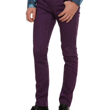 RUDE Purple & Black Pinstripe Pants