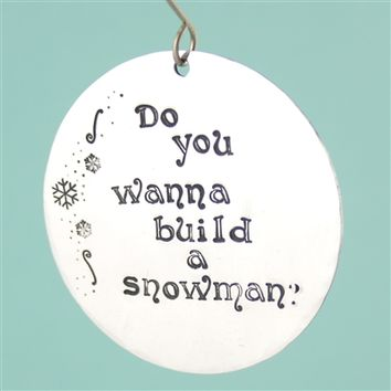 Do You Wanna Build a Snowman? Ornament - Spiffing Jewelry