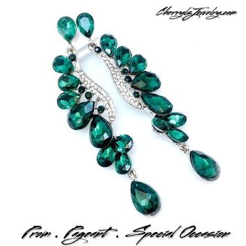 Emerald Crystal Statement Earring