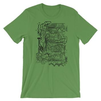 Circuit Board T-shirt Computer Science Graphic Tee Geek Gift
