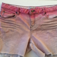 Faded Pink Ombré Jean Shorts Size 13/14