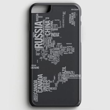 World Map Typography iPhone 7 Case