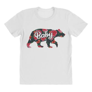 Floral Baby Bear All Over Women's T-shirt