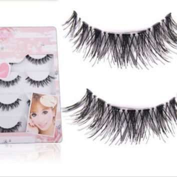Fashion 5 Pair/Lot Crisscross False Eyelashes Lashes eye lashes FINe