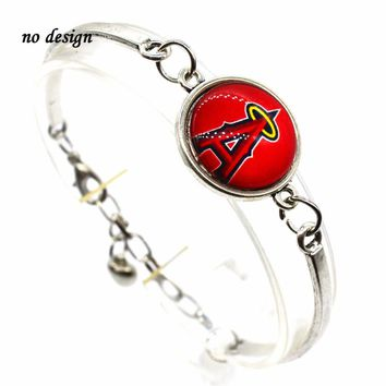 2017 New Arrival Charm Bracelet Bangle MLB Los Angeles Angels of Anaheim Charms Baseball Bracelet Femme Men Jewelry SPT053