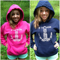 Anchor Hoodie/Sweatshirt PINK, NAVY or Lime Green