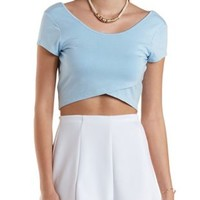 Tie-Back Wrap Crop Top by Charlotte Russe