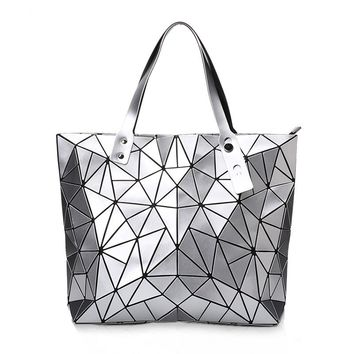 Now women Bao bao Bag baobao Geometry Package Sequins Mirror Saser Plain Folding Handbags Bags For Women  Diamond Shoulder Bags