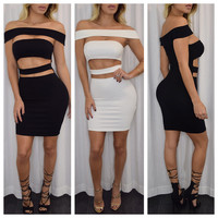 All :: Dresses :: Kylie Cut Out Cotton Dress