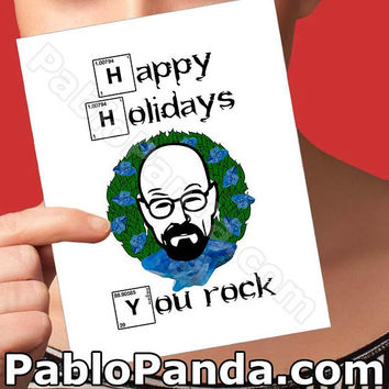 Christmas Cards | Walter White Card | Bryan Cranston Breaking Bad Gift Merry Christmas Card Christmas Humour Boyfriend Card Girlfriend Card