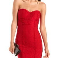 Corset Bust Lace Tube Dress: Charlotte Russe